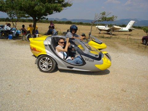 moto et side car de l'association Handicar Motards solidarité