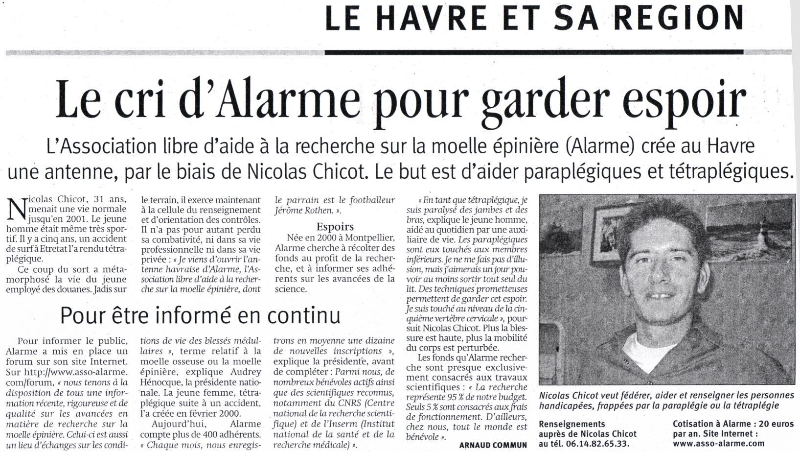 Ouverture de l'antenne locale d'ALARME au Havre